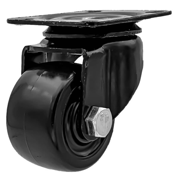 2 inch Black Solid PU Swivel Caster Wheel No Brake