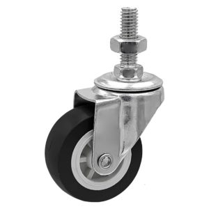 2 inch Black PU Swivel Stem Caster No Brake