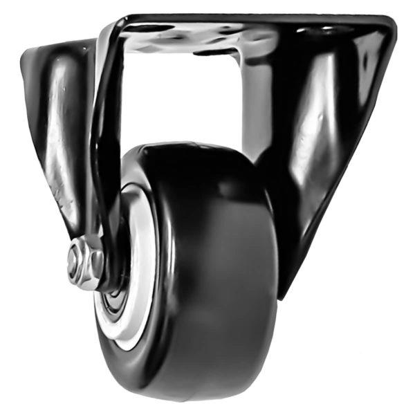 2 inch All Black PU Non Swivel Fixed Rigid Caster