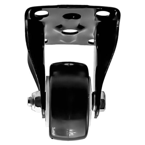 1.5 inch All Black PU Non Swivel Fixed Rigid Caster