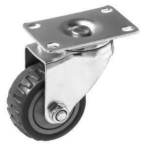 3 inch Grey All Terrain Tyre Veins PU Swivel Caster No Brake