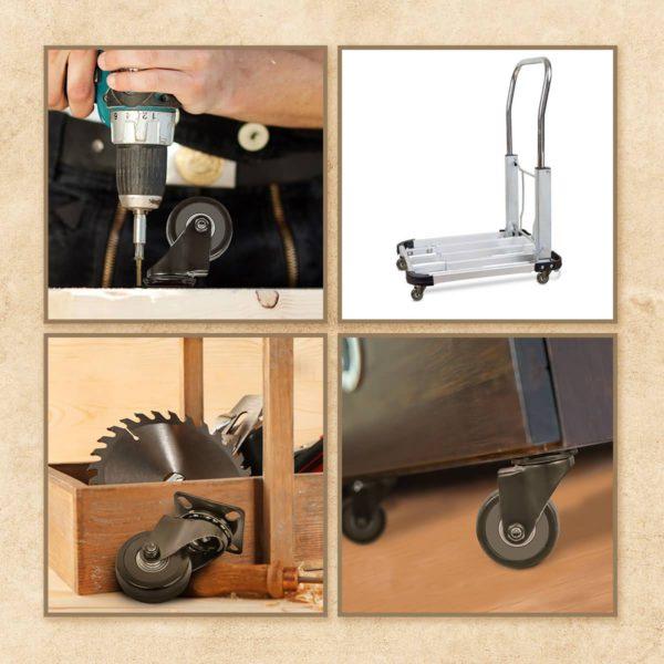2 Inch Black PU Swivel Caster Wheel No Brake
