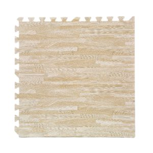 "24 Pack 24""x24"" Interlocking Wood Grain Floor Foam Mats Exercise Puzzle Tiles"