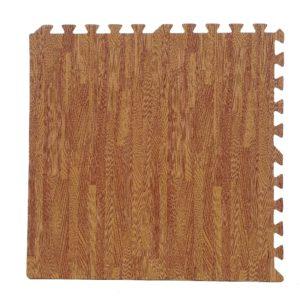"96 Pack 12""x12"" Interlocking Light Oak Foam Floor Mats Exercise Puzzle Tiles"