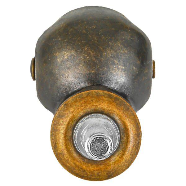 1.5 inch Black PU Swivel Polyurethane Vintage Ball Wheel Stem Caster No Brake