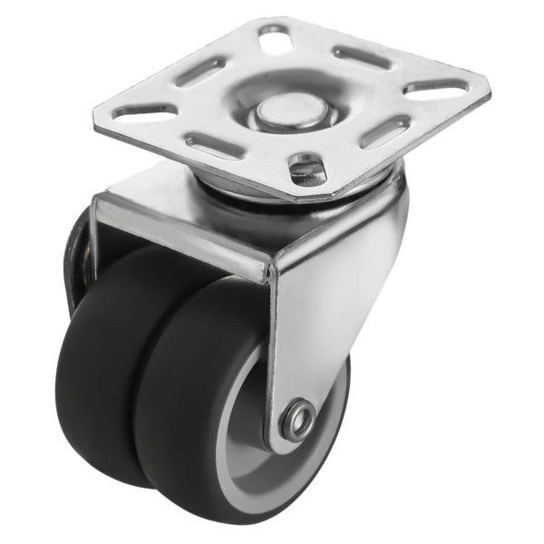 2 inch Black TPR PU Swivel Dual Double Caster No Brake