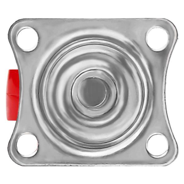 1 Inch Red Mini Rubber Swivel Caster Wheel No Brake
